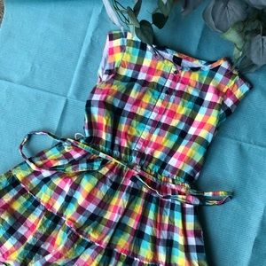 Gap kids size 10 casual dress multi colored